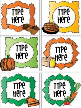 Editable Labels-Thanksgiving Labels