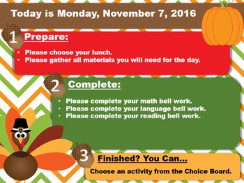 Editable Thanksgiving Morning Board Templates