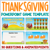 Editable Thanksgiving Powerpoint Game Template