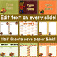 Editable Thanksgiving Signs & Notes in PowerPoint