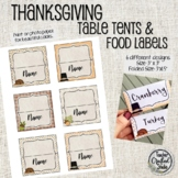 Editable Thanksgiving Table Tents - Desk top tags