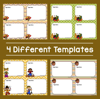 Editable Thanksgiving Themed Task Cards in PowerPoint
