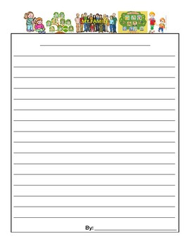 Editable Thematic Writing Paper Resource