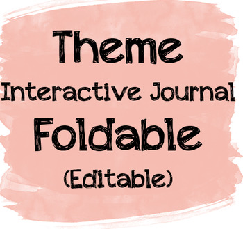 Editable Theme Interactive Journal Foldable