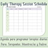Editable Therapy Schedule Template