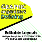 Editable - Map for Thinking Defining Map 3 designs with 3 writing journals