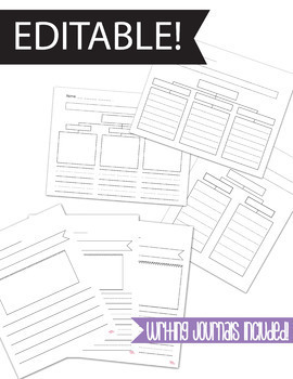 Editable -Thinking Map Tree Map 6 designs -cross-curricular / journal incld.