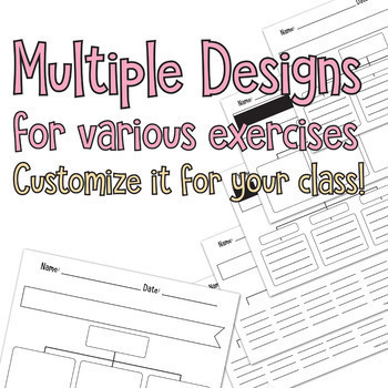 Editable Maps for Thinking - Cross-curricular- Differentiated - All 8 Maps