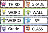 Editable Third Grade Word Wall (ROBOTS)