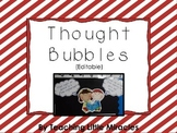 Editable Thought Bubbles (for Essential Questions)