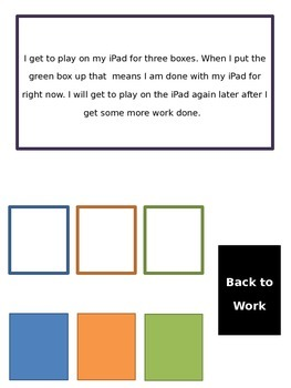 Editable Three Box Working System for Students with Autism