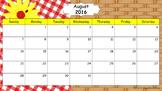 Editable Three Calendars Set: August 2016 – July 2017