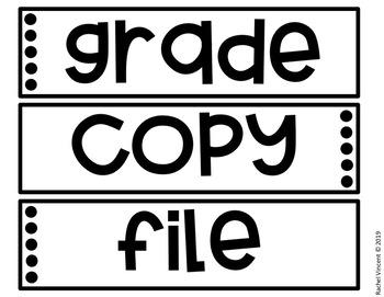 Editable Three Drawer Labels