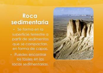 Editable Three Types of Rocks PowerPoint in Spanish