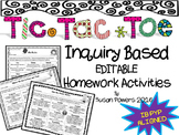 Editable Tic Tac Toe Inquiry Based Homework