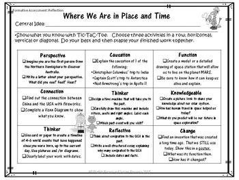 Editable Tic Tac Toe Inquiry Based Homework