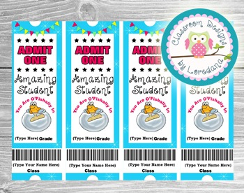Editable Tickets... Add Your Name & Grade...You Are O'fishally