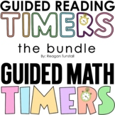 Editable Timers for Guided Reading and Guided Math Rotations BUNDLE