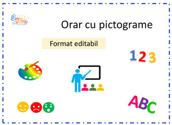 Editable Timetable in Romanian, Timetable with Images