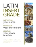 Editable Title Page for Latin Notes