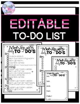 Editable To Do List