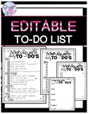 Editable To Do List