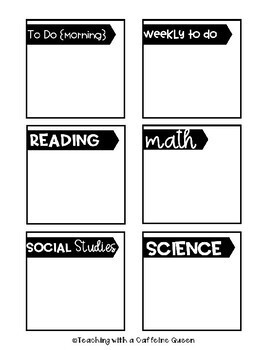 Editable To Do Post It Notes - Teacher Organization