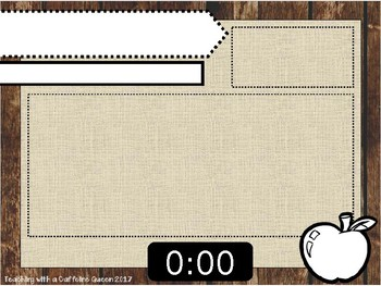 Editable To do list or Morning Message Template with Digital Timer  - Rustic