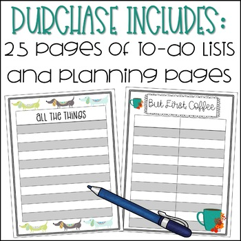 Editable Todo List and Planning Sheets