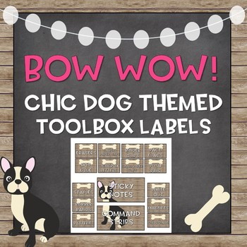 Editable Toolbox Labels (Chic Dog Theme)