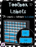 Editable Toolbox Labels in Zebra Blue