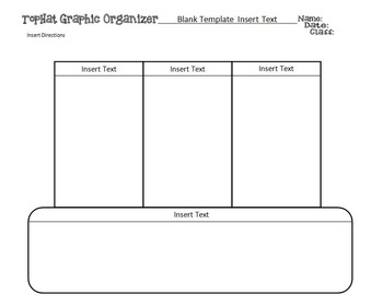 Editable Top Hat Graphic Organizer Templates PLUS A Sample of STEM Top Hats