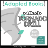 Editable Tornado Drill Adapted Books [ Level 1 and Level 2