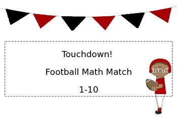 Editable Touchdown Math Match 1-10