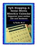 TpT, Blog, & Social Media Calendar Editable FREEBIE