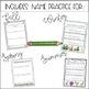 Editable Name Activities *Growing* Bundle