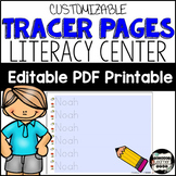 Name Recognition with Name Tracing. Low Prep Literacy Center; Editable {English}