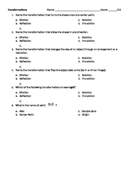 Editable Transformations Quiz