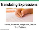 Editable Translating Expressions Power Point Lesson (20 slides)