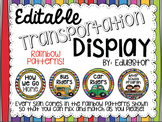 Editable Transportation Display--Rainbow