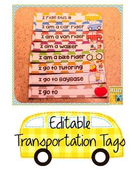 Editable Transportation Tags