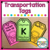 Editable Dismissal Transportation Tags