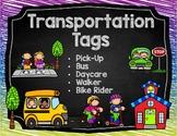 Editable Transportation tags - how do we get home?