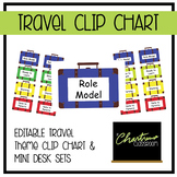 Editable Travel Theme Clip Chart