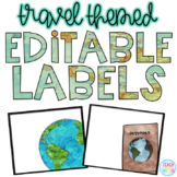 Editable Travel Themed Labels