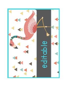 editable tribal animal class list poster group names tpt