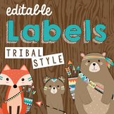 Editable Tribal Themed Labels