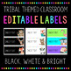 Editable Tribal Labels Black White and Bright