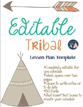 Editable Tribal Lesson Plan Template