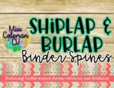 Editable Tribal Shiplap Binder Spines